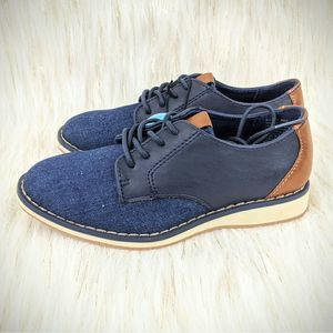 Sonoma Boys Navy Barn Shoes Jean Blue Brown Oxford